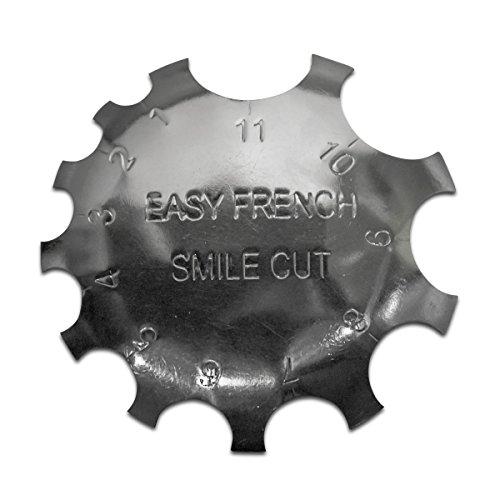 Edge Trimmer Easy French SMILE CUT Schablone Cutter für Acryl Modellage UV Gel -