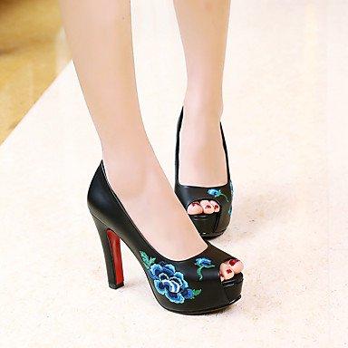 LvYuan Da donna-Sandali-Matrimonio Formale Serata e festa-Comoda Club Shoes-A stiletto-PU (Poliuretano)-Nero Rosso Bianco Black