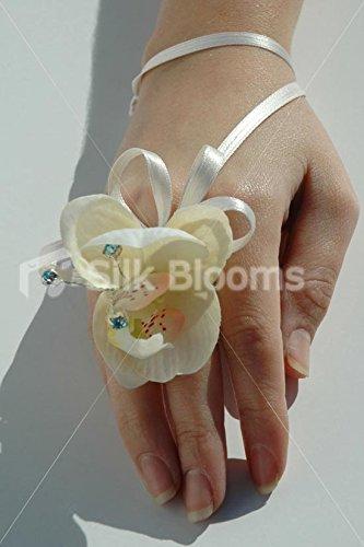 Beautiful Real Touch avorio Orchid-Corsage, con cristalli Swarovski