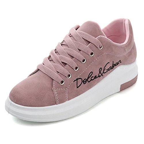 Frauen Casual Schuhe Wedges Pink Plateau Light Sneakers Weiche Vulkanisieren Schuhe (Pink Für Frauen Wedges Schuhe)