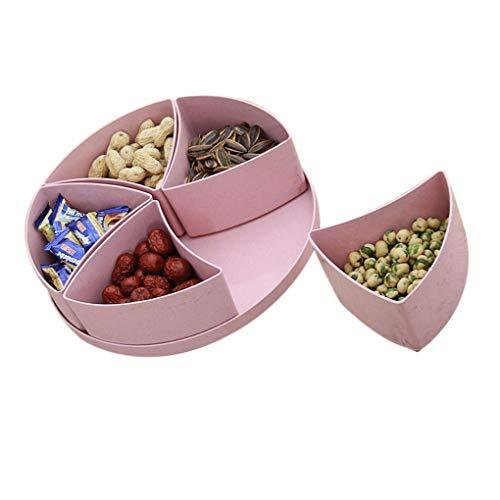 Getrocknete Früchte Imbiss-Platte Wohnzimmer Küche Herausnehmbare Unter Gitter PP Frucht-Behälter Kunststoff-Abdeckung Mengonee