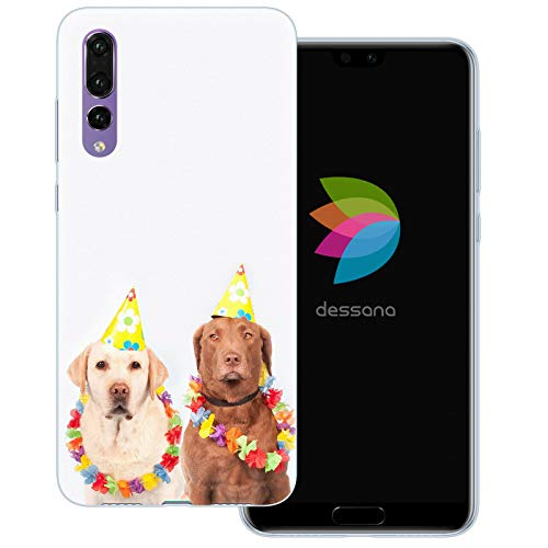 Clown Kostüm Pro - dessana Fasching Party transparente Schutzhülle Handy Case Cover Tasche für Huawei P20 Pro Kostüm Hunde