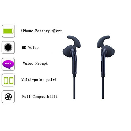 Jiyanshi SX6 Wireless Sport Bluetooth Headset (BLACK) with Super Clear Sound Quality/Dust & Water Resistant/Smart Voice Report/v4.2 Bluetooth/Music & Call Control Compatible for Micromax GC222  available at amazon for Rs.899