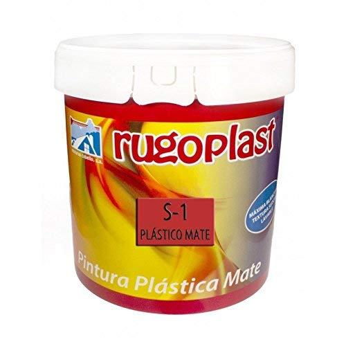 Rugoplast - Pintura plástica mate blanca económica S-1 para paredes de interior, Blanco