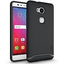 Huawei Honor 5X Funda, Caja protectora TUDIA Slim-Fit MERGE de doble capa para Huawei Honor 5X (Negro Mate)