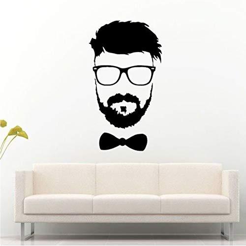Mann Mit Bart Gläser Und Boe Krawatte Swag Wandtattoos Wohnzimmer Vinyl Wandaufkleber Für Jungen Schlafzimmer Kunst Dekoration 42 * 75 Cm