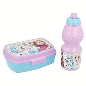 Disney Frozen- Set Botella cantimplora Sport y sandwichera (STOR 86876)