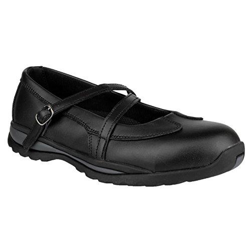 Amblers FS55 S1P signore elegante fibbia scarpa di sicurezza Nero