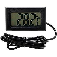 iTimo - Termómetro para coche, medidor de temperatura, para pecera, refrigerador, reloj