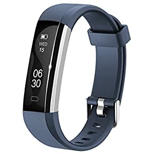 Fitness Armband Lintelek NEU fitness tracker Sport Uhr Smart Bracelet Notifications Anrufe SMS Nachrichten Reminder Smartwatch Schrittzähler Schlaftracker Aktivitätstracker für Android und iOS Blau