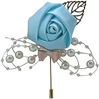 runde Kunstperlen CTGVH Anstecknadeln mit geradem Kopf Blumen Knopfl/öcher f/ür Hochzeiten 40 St/ück Schwarz dekorativ gerade Ansteckblumen