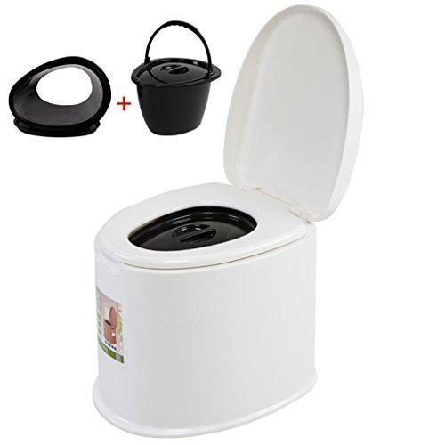 MyAou-commode Toilette Chaise Portable Toilette Antidérapante Toilette Voyage Camping Randonnée Pique-Nique en Plein Air (Couleur : Blanc, Taille : A)