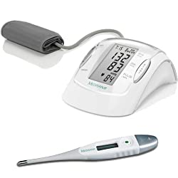 Medisana MTP+FTF - Pack de tensiómetro de antebrazo y termómetro digital