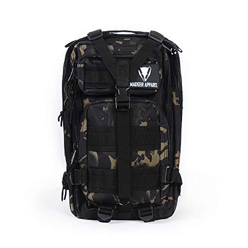 Madger Sac à Dos Militaire 20L / Sac Tactique, Camouflage Ville/Randonnée, Trekking, Camping, Vélo, Outdoor/Imperméable, Multi-Fonction