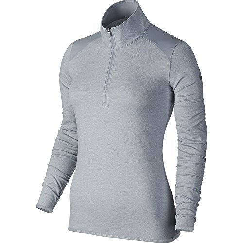 Nike Golf Closeout Women's Lucky Azalea 1/2 Zip Pullover 2.0 (Grey) 725667-012 S Nike Mock Neck