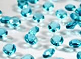 4000 Aqua/Turquoise Quality Diamond Scatter Crystals Wedding Table Decoration by Wonderland Home by Table Crystals
