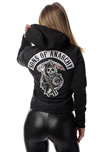 Piston Clothing Women's Sons of Anarchy Denim Highway Fancy Dress Costume Jacket Medium (Sons Of Anarchy Womens)