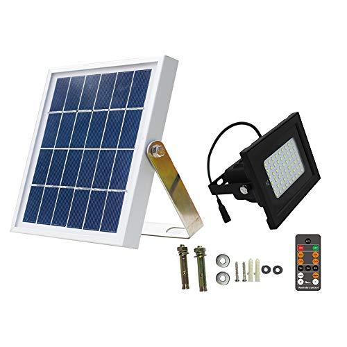 Solar-Flutlichter, Fernbedienung, 54 LEDs, wasserdichte Solarlampe für Garten Hof, Außenbeleuchtung With Bracket -