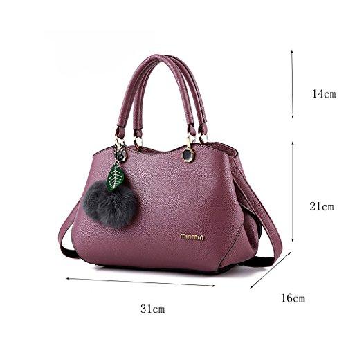 CLOTHES- Borsa della borsa della borsa di temperamento Versione coreana del nuovo pacchetto Personalità Moda Borsa semplice della borsa del messaggero della spalla ( Colore : Viola scuro ) Viola Scuro