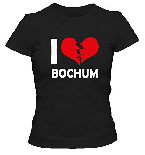 I don\'t love Bochum FUN Damen T-Shirt, Größe:XL;Farbe:schwarz