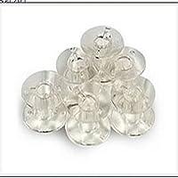 Juego de 20 canillas de plástico transparente para máquinas de coser Brother, Janome, Singer, de Nicebuty.