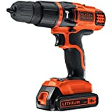 Black   Decker 18V Lithium Ion 2 Gear Hammer Drill
