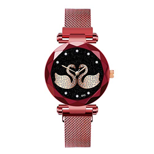 Saingace(TM) Damen Quarz Armbanduhr Analog Uhr, Luxusuhren Quarzuhr Edelstahl Zifferblatt Beiläufige Armbanduhr Frauen Elegante Quarzuhr