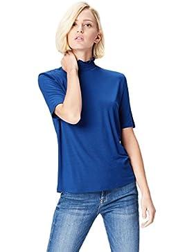 FIND Camiseta con Cuello Fruncido para Mujer