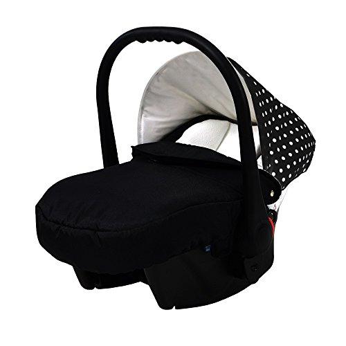 """Preisvergleich Produktbild knorr-baby 33700-2 Autositz Voletto """"Tupfen"""", schwarz/weiß"""