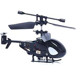 Malloom RC 5012 2Ch Mini Helicóptero RC De Radio Control Remoto De Aviones Micro 2 Canales (Negro)