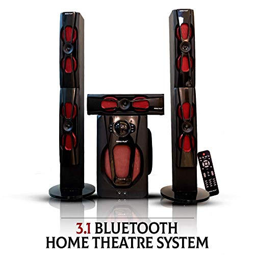 Mega Play 3.1 Tower with Sound Bar Multimedia Speaker with USB/SD/FM/BT Model 385