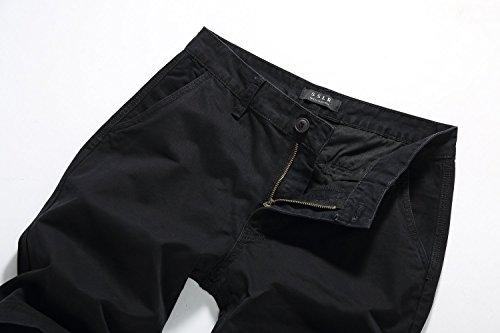 ... SSLR Herren Casual Regular Fit Baumwolle Shorts Schwarz