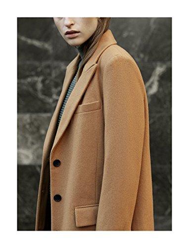 SELECTED FEMME Damen Mantel Sfconstract Ls Coat H Braun (Chipmunk)