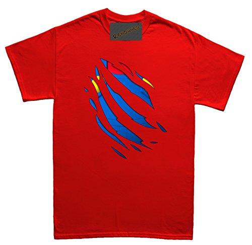Renowned Retro inside italian character Herren T Shirt Rot