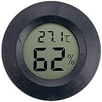Vosarea Mini igrometro termometro Digitale LCD Misura per Interno (Nero)