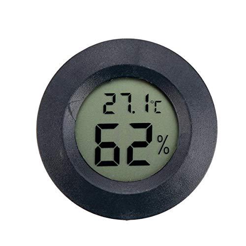 Vosarea Mini Termometro Digitale Rotondo LCD Misuratore di