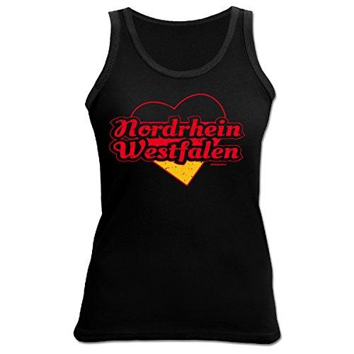 Damen Tank Top Städte / Bundesländer / Regionen : Nordrhein Westfalen -- Goodman Design Städtenamen Funshirt Farbe: schwarz Schwarz