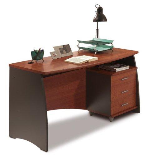 Mobimarket - Mesa Escritorio de 140 cm. con buc cajones en color castaño