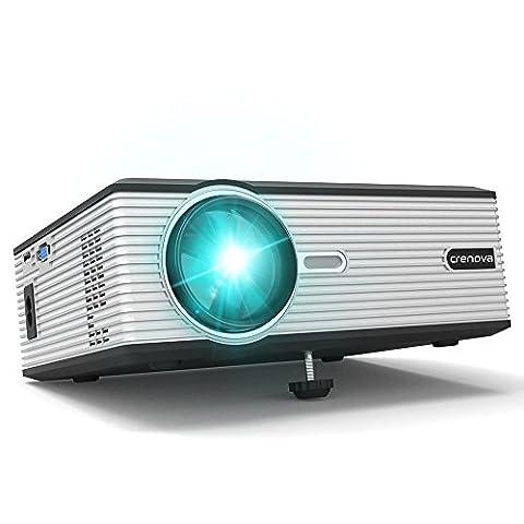 Beamer, Crenova XPE470 Projektor HD Video LCD Beamer 130'' Support 1080P / USB / VGA / SD / HDMI für Xbox / iphone / Smartphone / PC