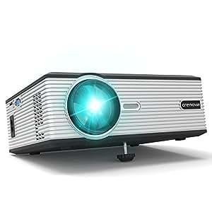 Proiettore, Crenova XPE470 HD Mini Video Notturni Home Cinema Proiettori Supporto HDMI / USB / SD / VGA per Gaming / TV / Cellulari / PC / Bimbi