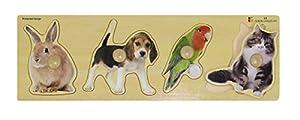 Doron Layeled Gigante Peg Puzzle de Madera-Mascotas