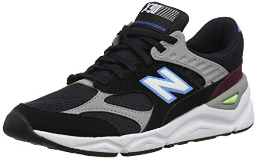 New balance x-90, formatori uomo, nero (black/light cobalt ck), 45.5 eu