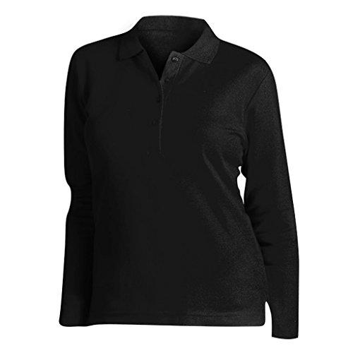SOLS Podium Damen Pique Polo-Shirt, Langarm Graphit Meliert