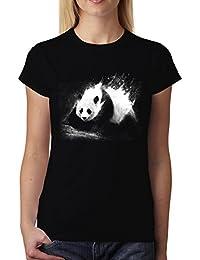 avocadoWEAR Panda Gigante Oso Panda Mujer Camiseta XS-3XL