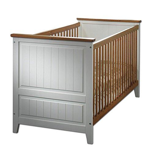 SAM Kinderbett Jessica umbaubar in ein Juniorbett weiß lackiert Kiefernholz massiv