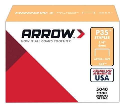 Arrow 031025 354 Boîte de 5000 Agrafes 6 mm pour Agrafeuse P35