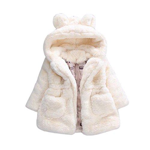 Amlaiworld Bebés niña otoño Invierno Abrigo con Capucha Chaqueta Gruesa Ropa de Abrigo 12 Mes - 4 Años (Tamaño:12-18Mes, Beige)