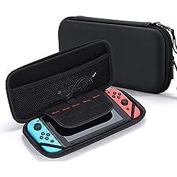 Tasikar Funda Compatible con Nintendo Switch (Negro)