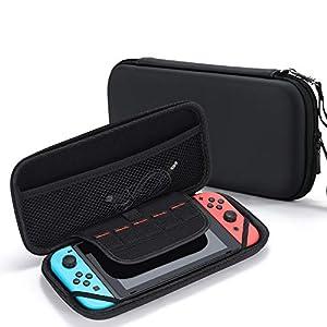 Tasikar Tasche Kompatibel mit Nintendo Switch (Schwarz)