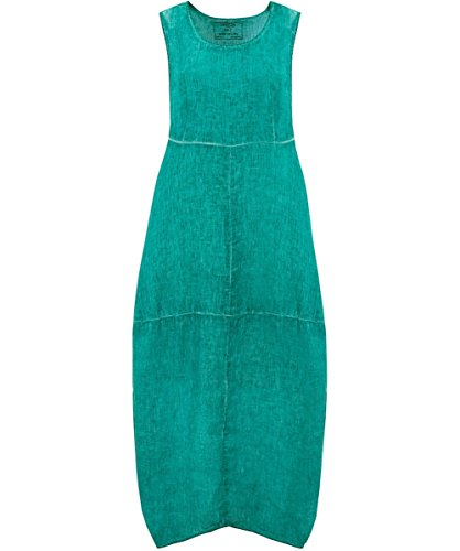 Grizas Femmes Robe lin sans manches Turquoise Turquoise